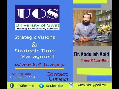 #UOS Training & Consultancy Services #Promo | Dr. Abdullah Abid #Trainer & #Consultant.