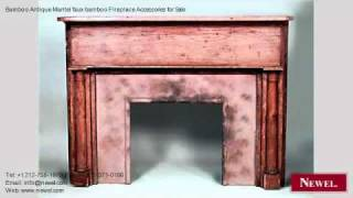 Bamboo Antique Mantel Faux Bamboo Fireplace Accessories