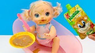 Кукла Учится Кушать Сама Что Придумала Мама #Мультик Для детей Играем Как Мама