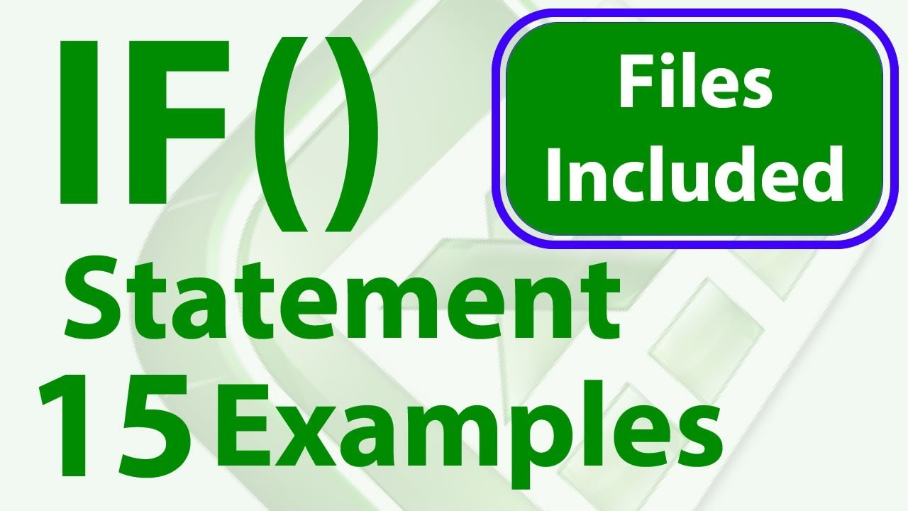 23 IF Statement Examples in Excel - Simple to Advanced - Workbook Included