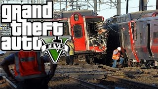GTA 5 - TRAIN CRASHING INTO ANOTHER TRAIN GLITCH