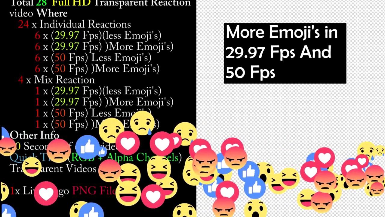 Background image 50 transparent - Facebook Live Reaction Transparent Background Videos Pack Motion Graphics