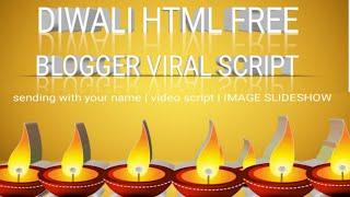 Happy DIwali HTML blogger script🔥Free wishing festival website script🔥Whatsapp viral script