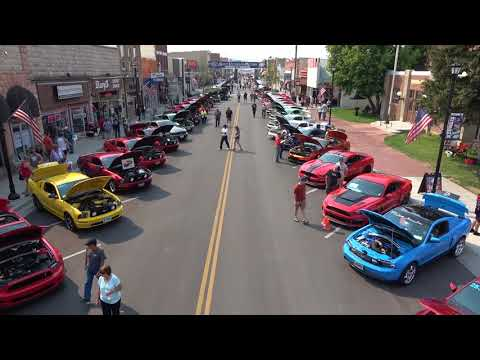 Sturgis Mustang Rally 2017   Car Show in 4K