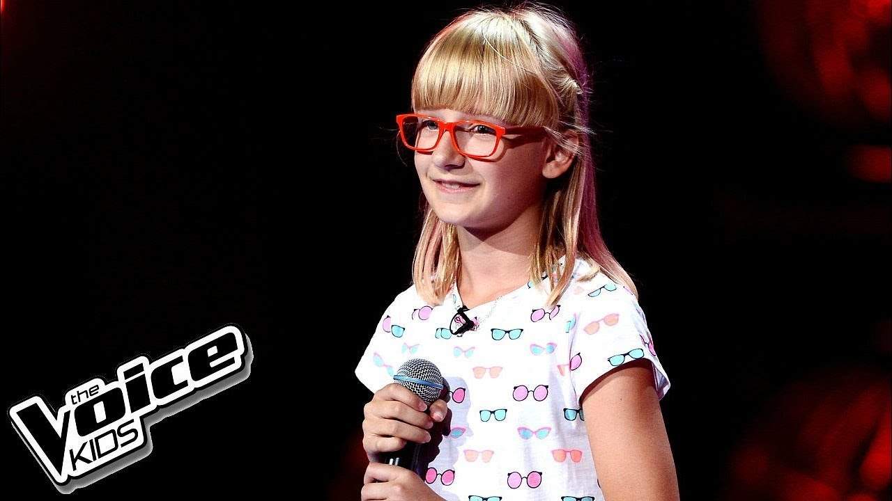 "Zuzia Janik – ""Unconditionally"" – Przesłuchania w ciemno – The Voice Kids Poland"