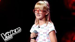 """Zuzia Janik – """"Unconditionally"""" – Przesłuchania w ciemno – The Voice Kids Poland"""