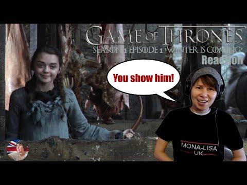 Game Of Thrones Season 1 Episode 1 Part I Reaction 'Winter Is Coming' (Mona-Lisa UK)