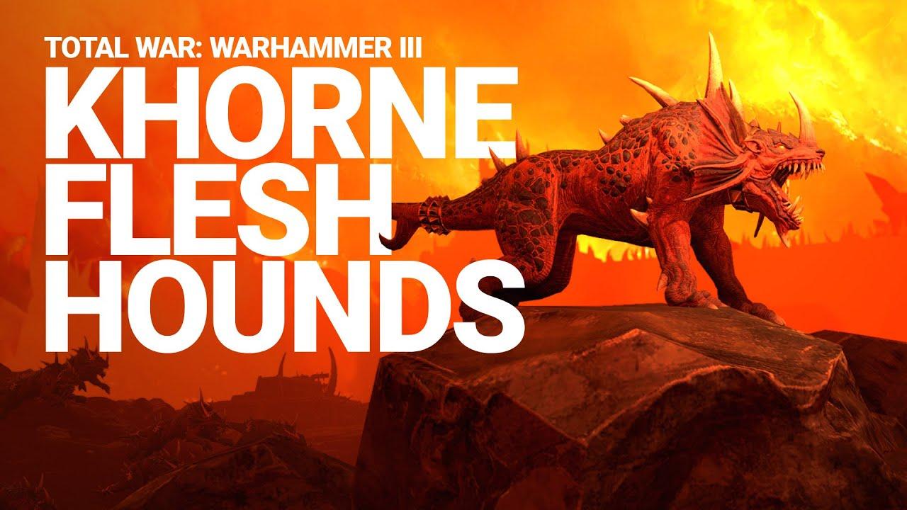Khorne Flesh Hounds Unit Spotlight | Total War: WARHAMMER III