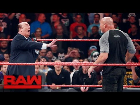 Thumbnail: Goldberg lays out Rusev and Paul Heyman: Raw, Oct. 31, 2016