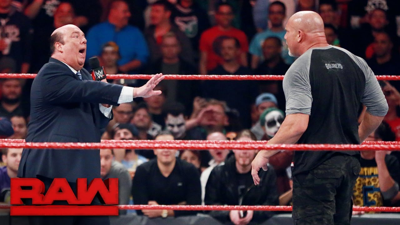 Download Goldberg lays out Rusev and Paul Heyman: Raw, Oct. 31, 2016