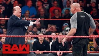 Goldberg lays out Rusev and Paul Heyman: Raw, Oct. 31, 2016