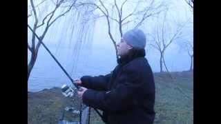 Ловля карпа на бойлы(вареники) - Александр в томиной балке 22 03 2014г