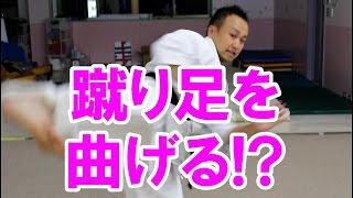 後ろ蹴りのやり方・練習・コツ ~蹴り足を曲げる!?~ Spin back kick thumbnail