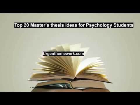 Best Thesis Topics For Psychology
