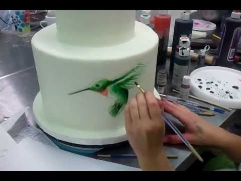 Cake Decorating Painting Icing : Painting on Cakes part 1 - Savannah Custom Cakes - YouTube