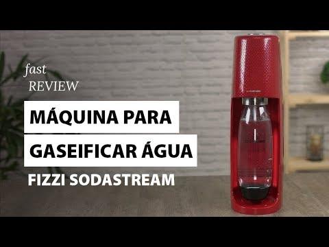 Máquina para gaseificar água Fizzi Sodastream | Fast Review | Fast Shop