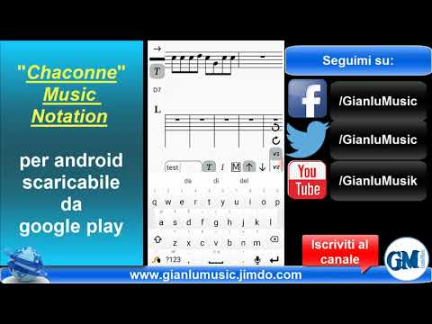 Chaconne Music Notation - Android Software   GianluMusic