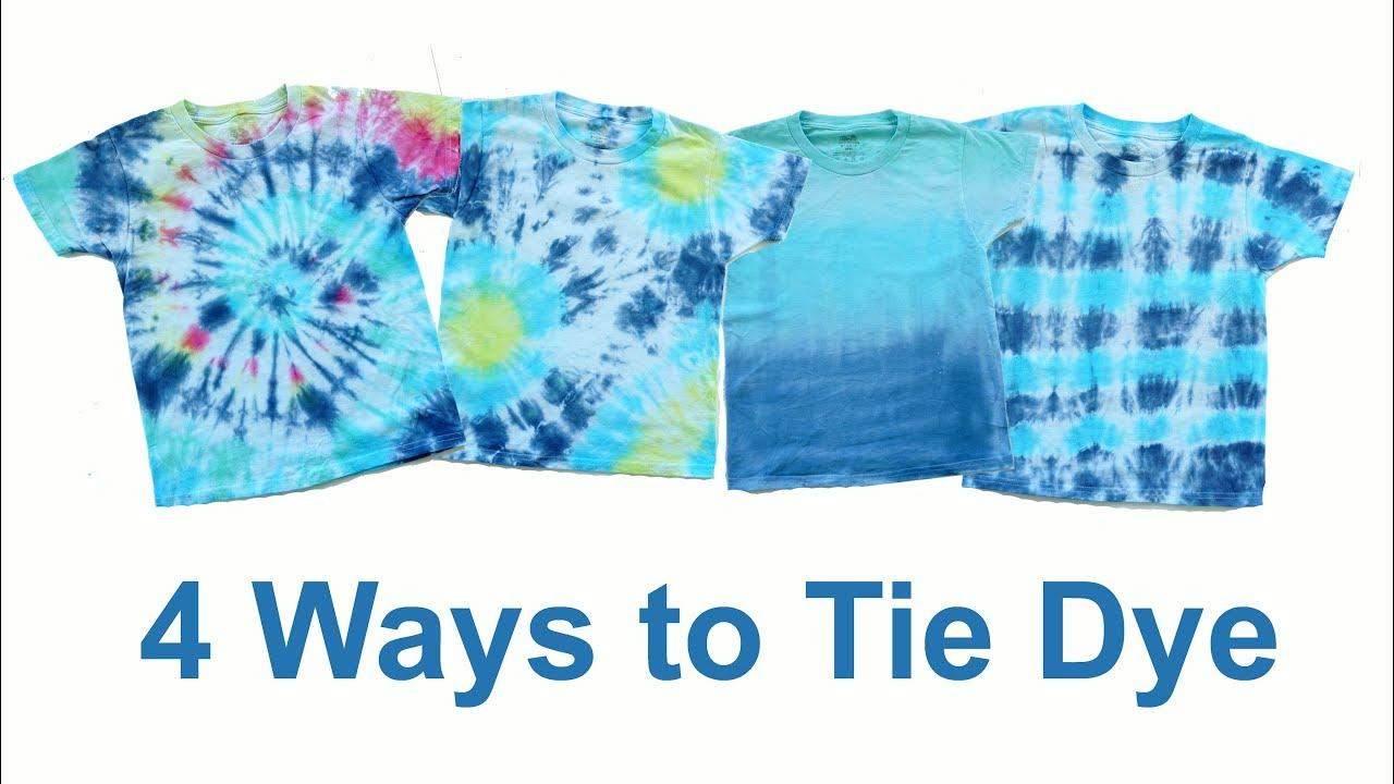 4 Ways To Tie Dye Bullseye Swirl Stripe And Ombre Youtube