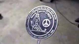 Custom Cast Aluminum Cemetery Gravesite Memorial Marker