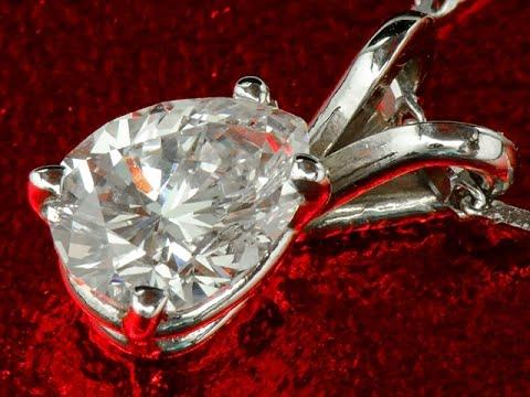 Элегантная подвеска с бриллиантом 0.52 карат с золотой цепочкой