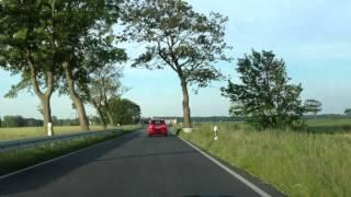 Fahrt von Pruchten über Bodstedt, Fuhlendorf, Neuendorf, Saal, Kückenshagen, Ribnitz-Damgarten