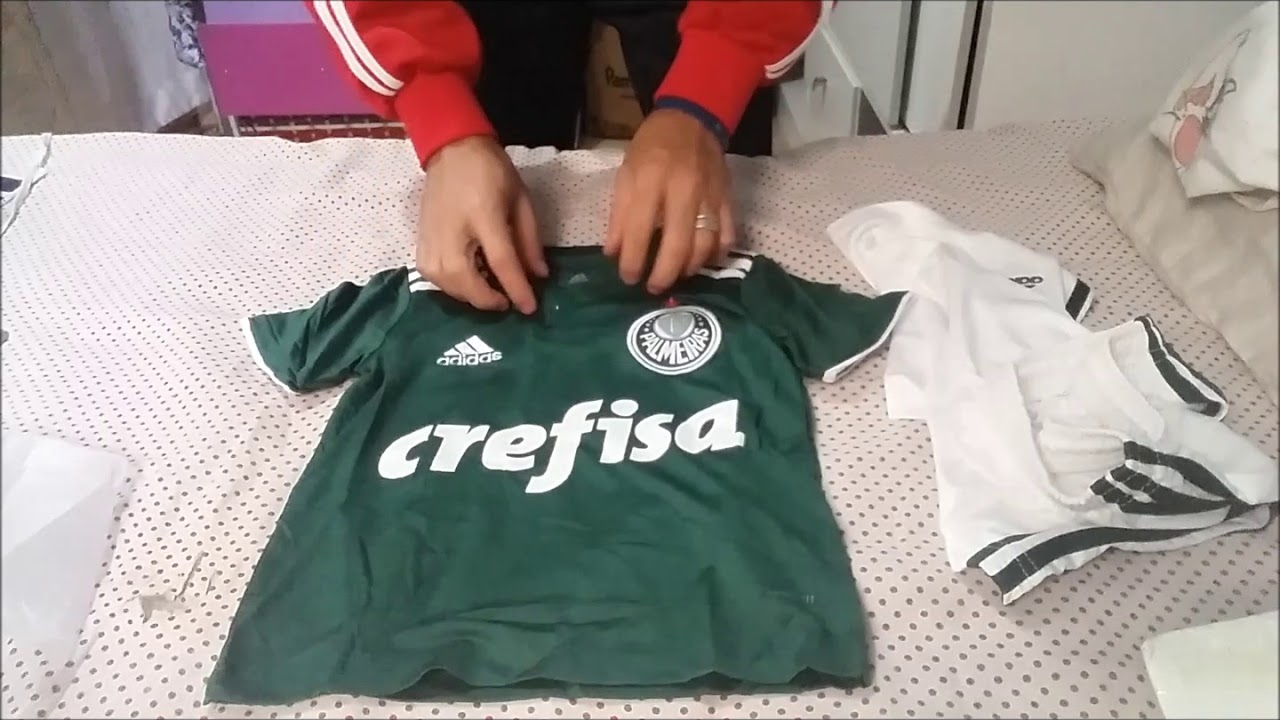 Unboxing Kit Infantil camisa Oficial Adidas Palmeiras Futtudo - YouTube a9b6a6a968944