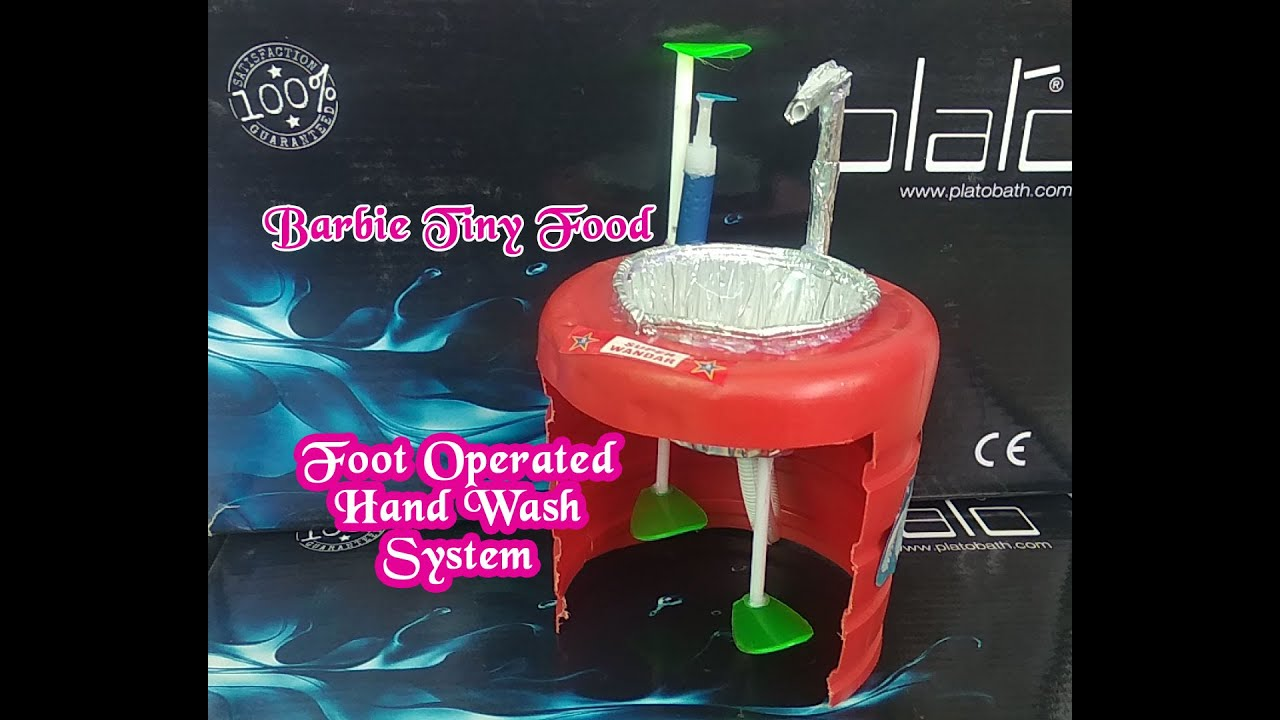 DIY Foot Operated Hand Wash System at Home | Dollhouse Miniature | Fight Against COVID-19 Stuff