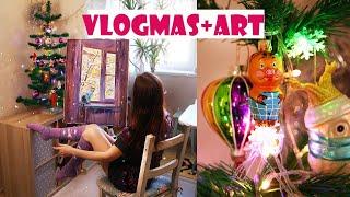 ВЛОГмас | КРАСНОДАР зимой, стройка, IKEA, подготовка к новому году и акварели)