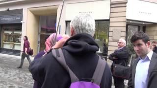 SHOCKING Assault by Legal Observer on Pro-Israel Bystander