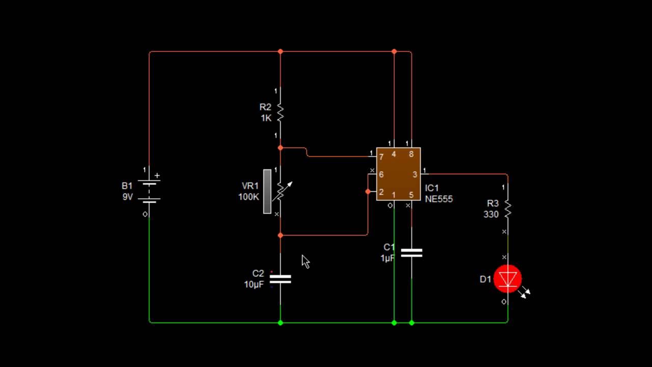 Circuito Oscilador 555 : Led alternos con youtube