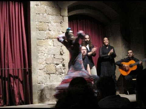 Sound only clip of a great Flamenco show at Dalmases Palace, Barcelona