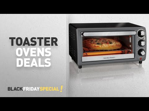 Walmart Top Black Friday Toaster Ovens: Hamilton Beach Toaster Oven In Charcoal | Model# 31148