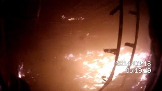 Масштаб последствий пожара в гостинице  г. Омск 2014 г..