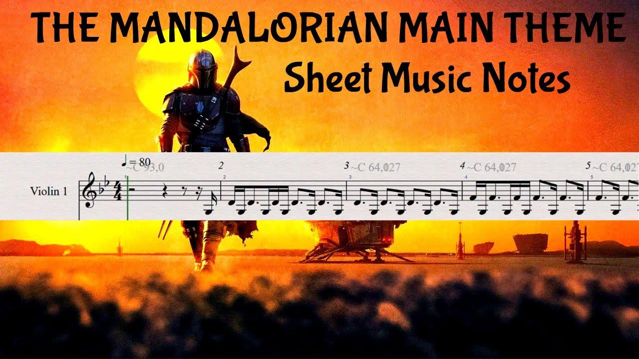 The Mandalorian Main Theme Sheet Music Notes Easy Tutorial For Violin Etc Youtube