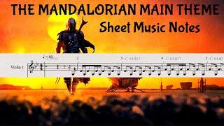 THE MANDALORIAN MAIN THEME - Sheet Music Notes! Easy Tutorial for Violin, etc...