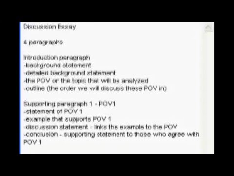 Discussion essay youtube