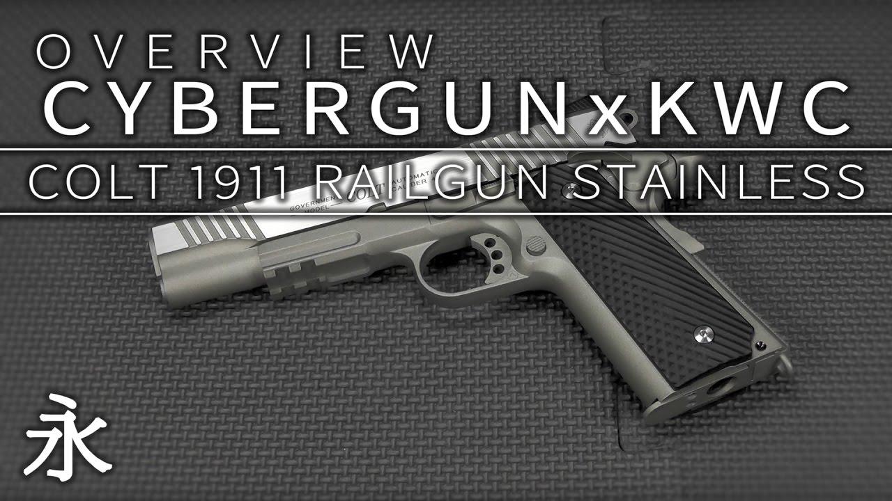 Overview: Cybergun/KWC Colt 1911 Rail Gun Stainless CO2 GBB pistol