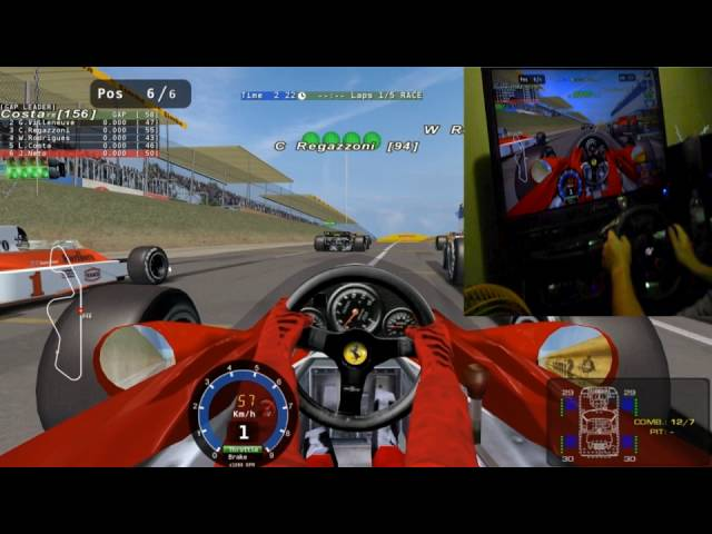 Ferrari de Lauda, correndo com meus amigos