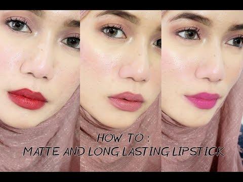 Matte Long Lasting Lipstick Youtube
