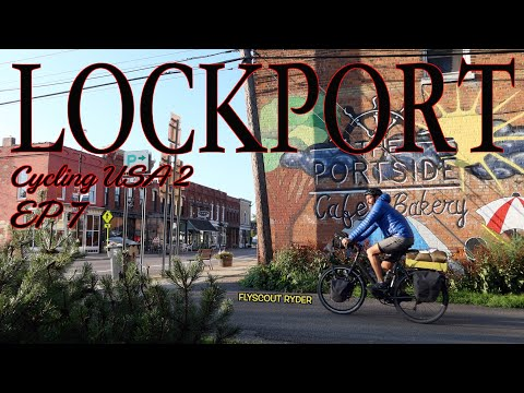 LOCKPORT  - Cycling USA 2 (Ep7) - Bicycle Touring Documentary - Last days on the Canalway Trail thumbnail