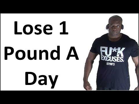 How to Lose Weight Fast (Like a Pound a Day) At Home – NO EXCUSES!