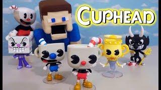 Cuphead Funko Pop Action Figures SET Unboxing Toys Mugman Devil Plush