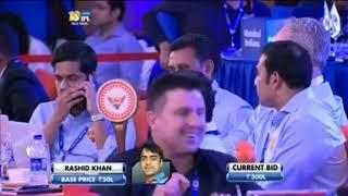 Rashid khan in ipl auction gone SRH only for ?? laksh 😱😱 | IPL AUCTION