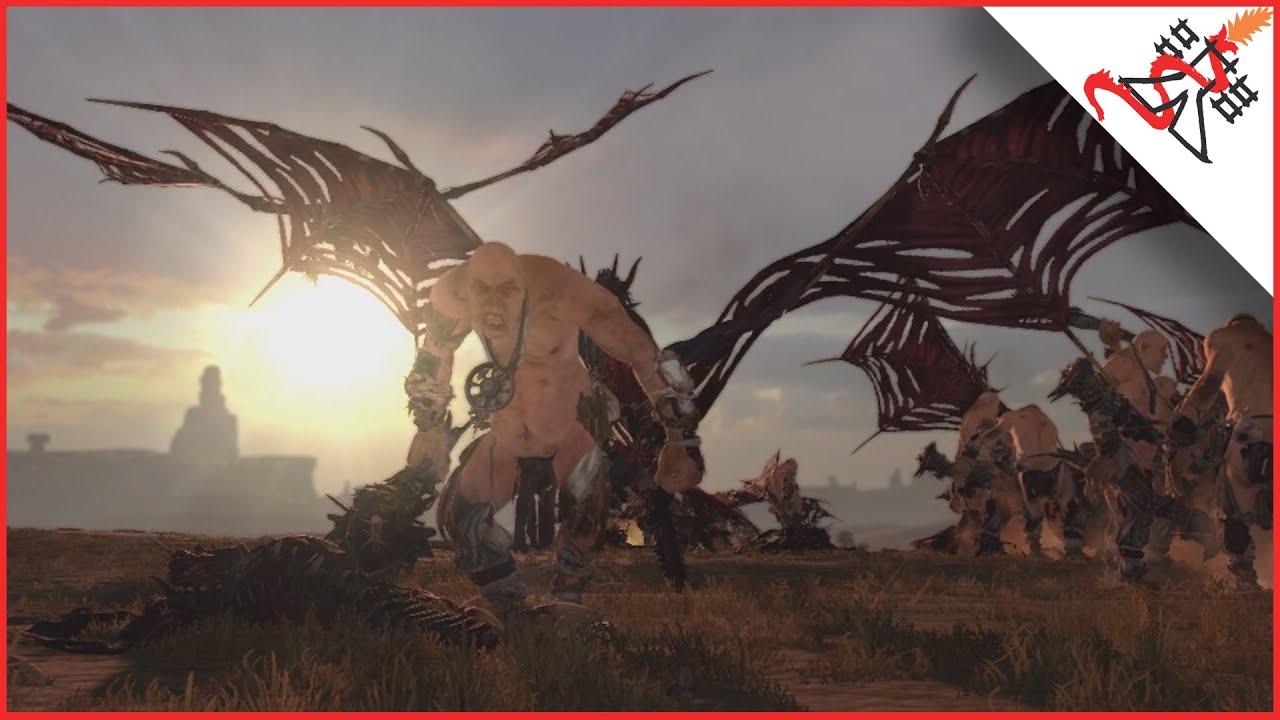 80 ZOMBIE DRAGONS vs 80 GIANTS - Total War: WARHAMMER ...
