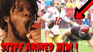 49ERS VS REDSKINS REACTION NFL WEEK 7 HIGHLIGHTS - STIFF ARMED HIM NASTY !