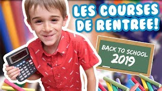 HUGO CHASSE SES FOURNITURES SCOLAIRES 2019 ! Angie la Crazy Série