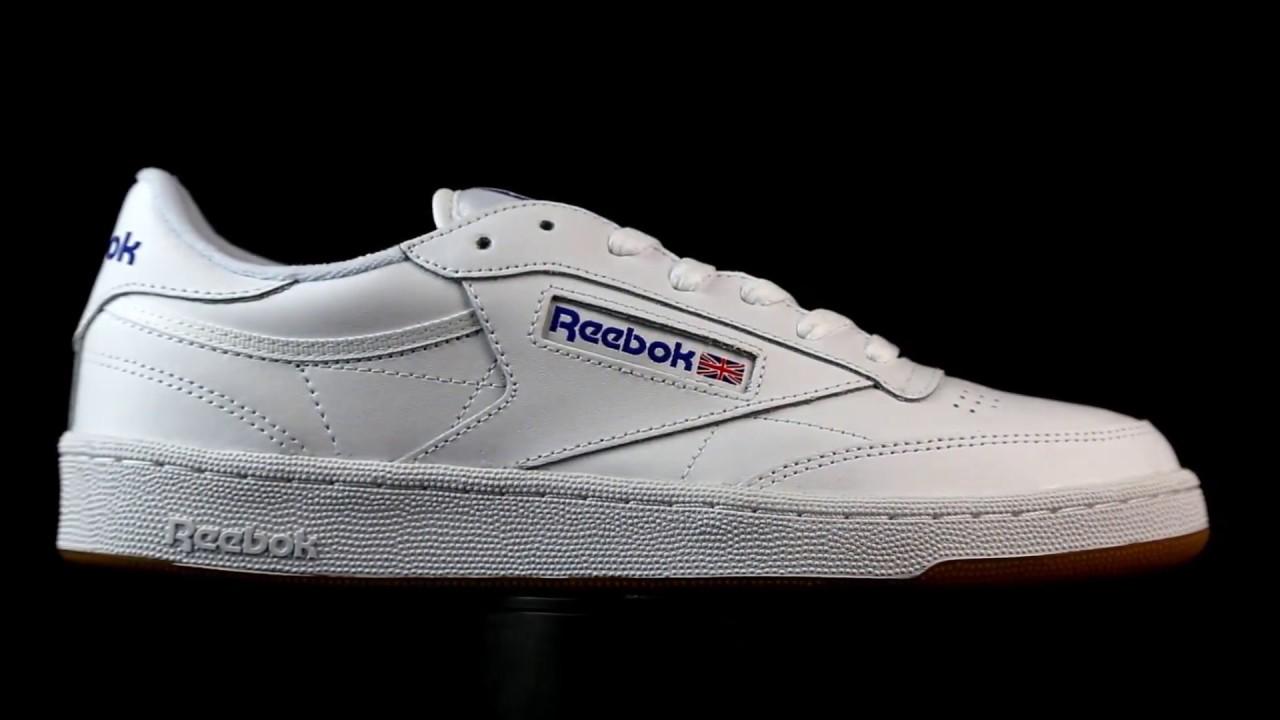 a0e425c96a73 Reebok Club C85 blanco. - YouTube