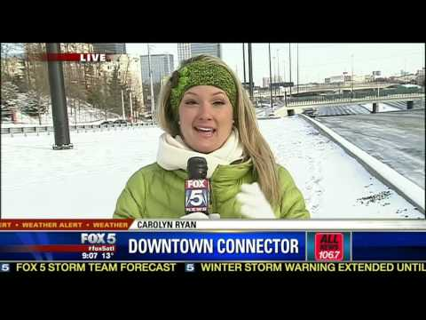 Atlanta ice storm 2014 - Fox5 morning news from 1/29/14