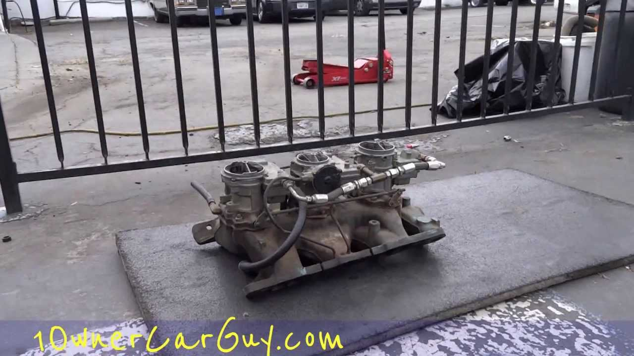 Tri-Power Carburetor Muscle Car Rat Rod GTO 389 Big Block Stock Factory  Manifold & Carbs Setup