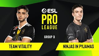 CS:GO - Ninjas in Pyjamas vs. Team Vitality [Dust2] Map 2 - Group B - ESL EU Pro League Season 10